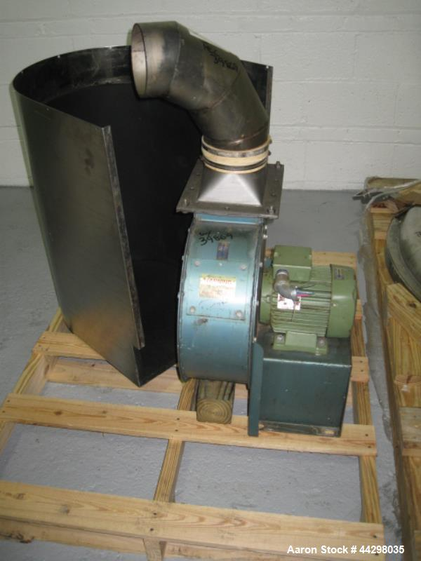 Used- Niro Fielder High Shear Granulating Mixer, Model PMA-1200, 316 stainless steel construction, 50 kw DC main impeller, 0...
