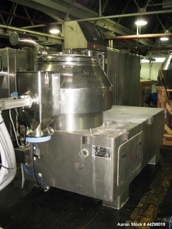 Used- Stainless Steel Niro Fielder High Shear Mixer, 300 liter, model PMA 300
