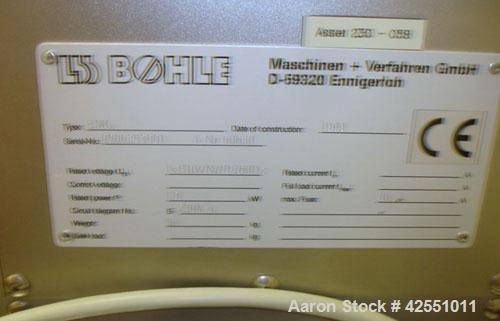 Used- L.B. Bohle Mini High Shear Granulator, Model BMG, Stainless Steel. 4/1/.5/.25 liter bowls with associated mixing and c...
