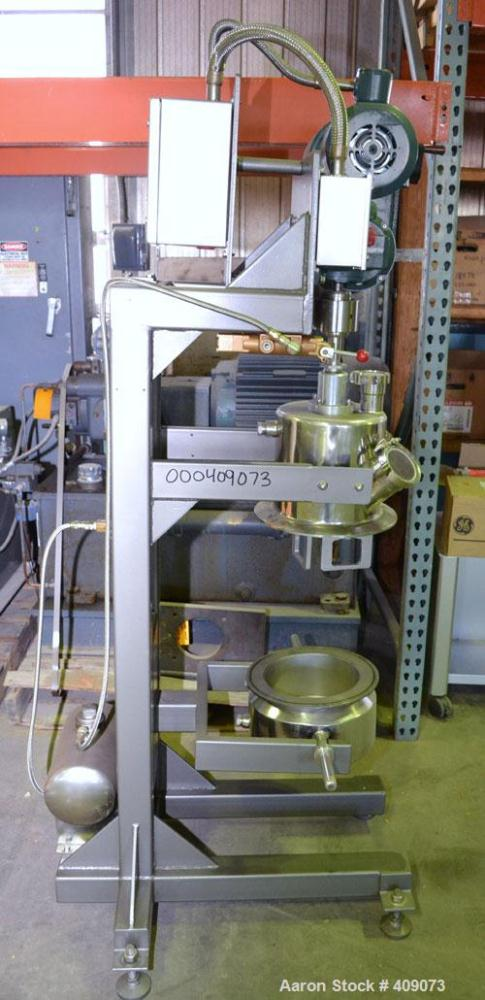 Unused- Lab Size Vacuum Double Planetary Mixer, 316 Stainless Steel. Approximate mixing capacity 3.7 liter (1 gallon). (2) 3...