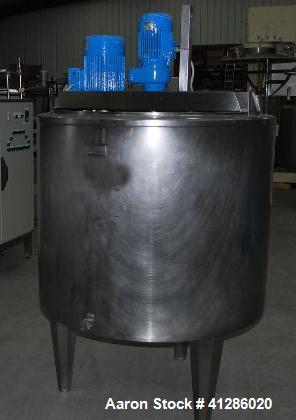 Used-Pierre Guerin CT 2238 Stainless Steel Mixer for liquid and viscous products.  Useful capacity 39 - 105 gallons (150 - 4...