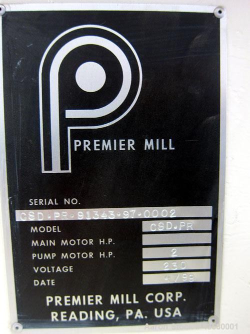 Used- Premier Mill Hydraulic Ram Can Discharger, Model CSD-PR