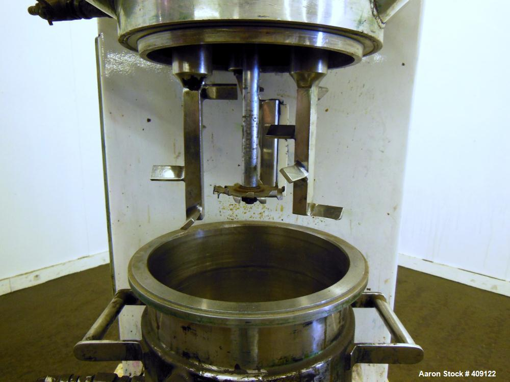 Used- Stainless Steel Premier Mill Hidrobat Planetary Mixer, Model HB10