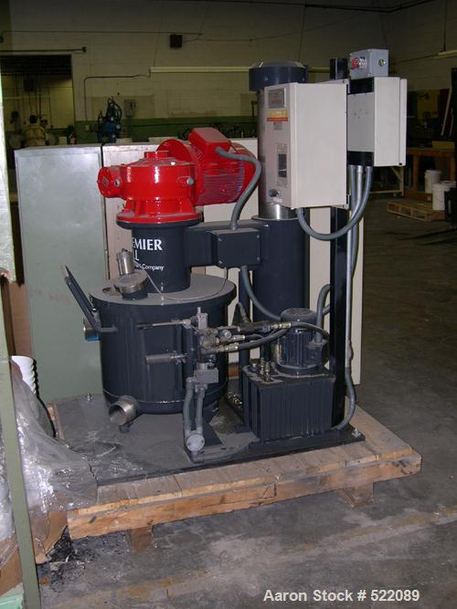 USED: Premier Mill Paragon twin shaft mixer. Carbon steel/stainlesssteel construction, 50 liter (13.2 gallon) capacity. Unit...