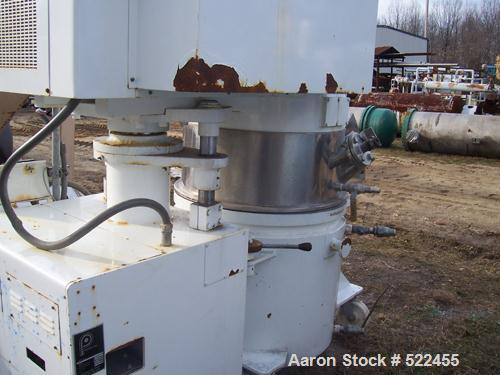 USED: Premier model PLM-360 planetary mixer. 100 gallon capacity, 360 liter, stainless steel construction. Double planetary ...