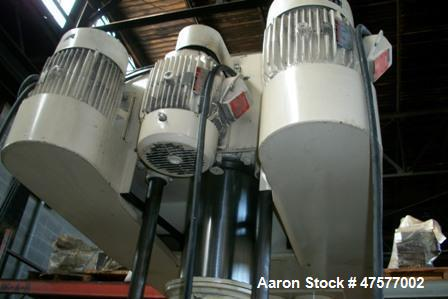 "Used- Ross PVM-100 Versamix, Triple Shaft Vacuum Mixers. (With close to 200 gallon capacity). Tank: ID is 35"" diameter x 48""..."