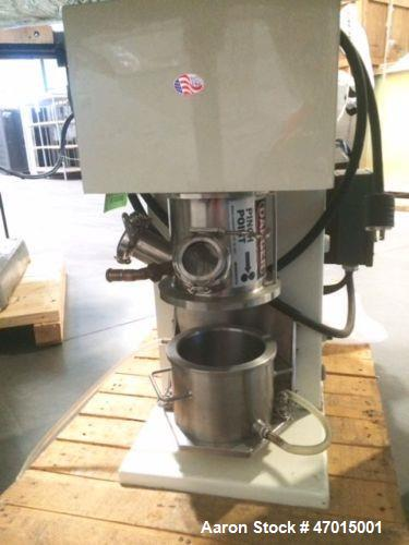 Used- Ross Laboratory Double Planetary Mixer, Model DPM1. 1 Quart, stainless steel type 304 with air/oil hydraulic lift. Mix...