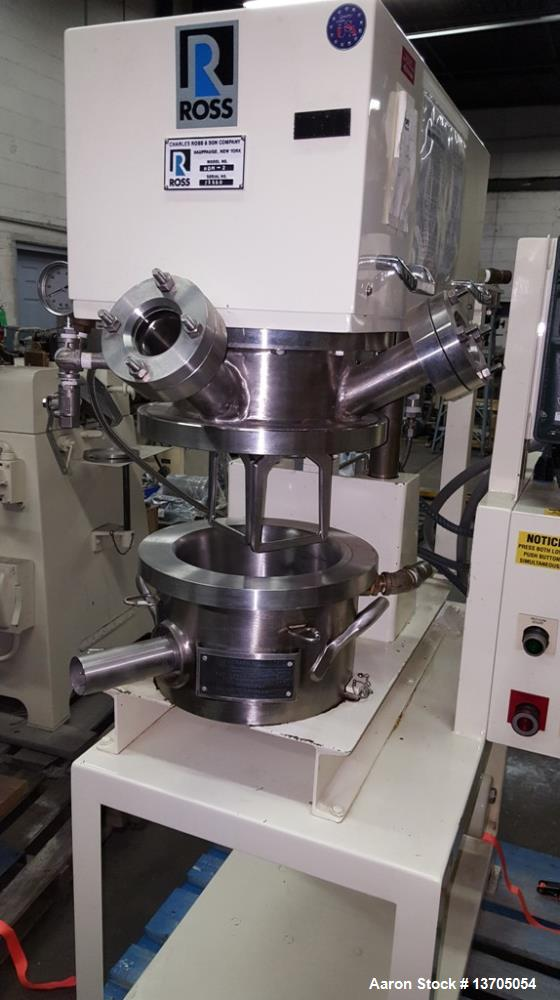 Used- 2 Gallon Ross Model HDM-2 Jacketed Planetary Mixer / Reactor Ross Model HDM- 2 Double Planetary Mixer / Reactor. Sanit...