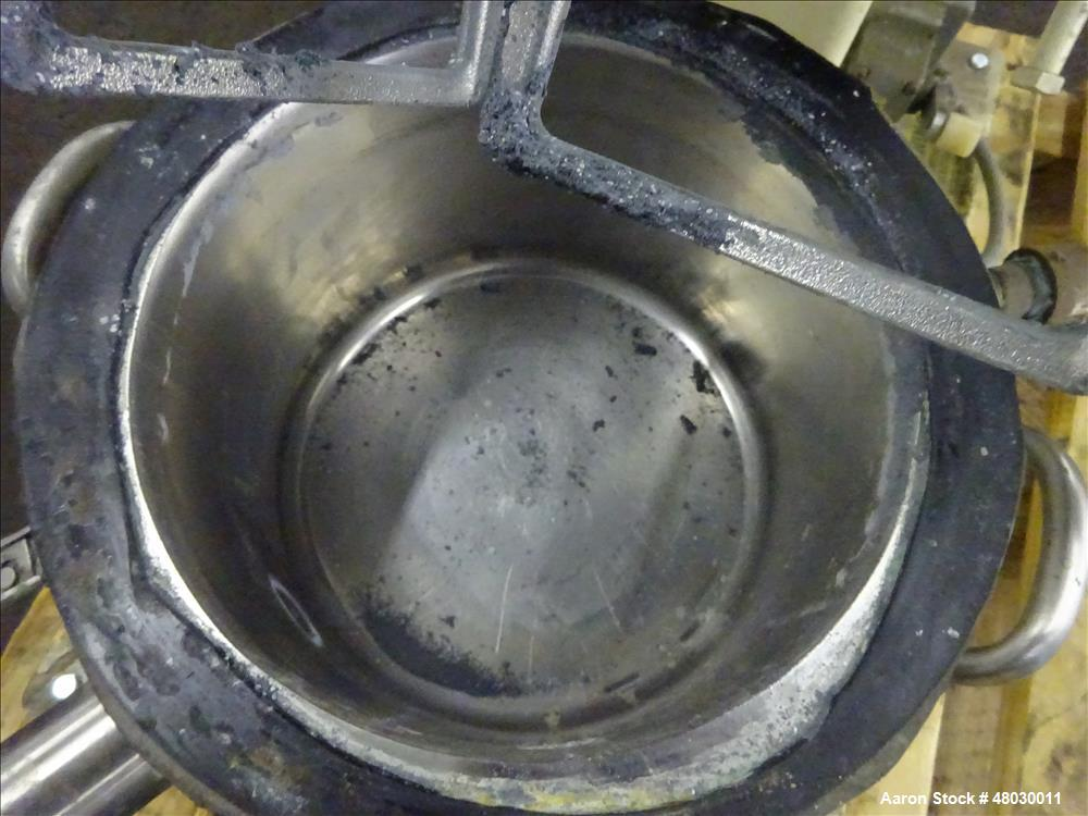 Used- Ross double planetary mixer, model LDM-2, 316 stainless steel. 1-1/2 gallo