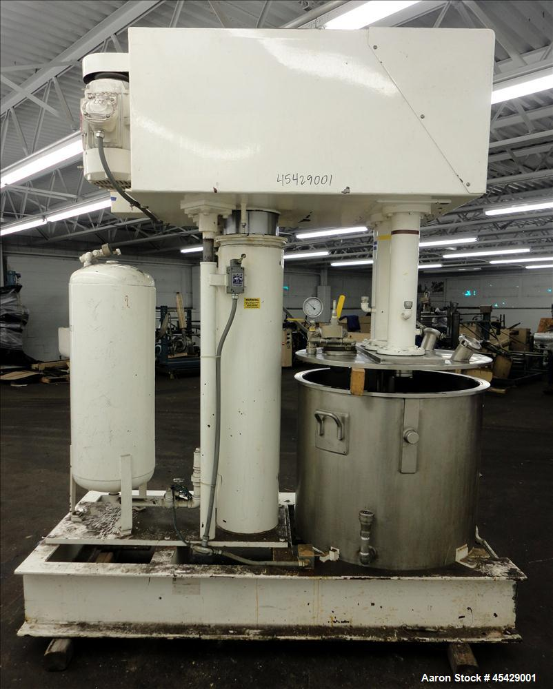 Used- Stainless Steel Ross Versa Mixer, 100 Gallon Mixing Capacity, Model PVM-10