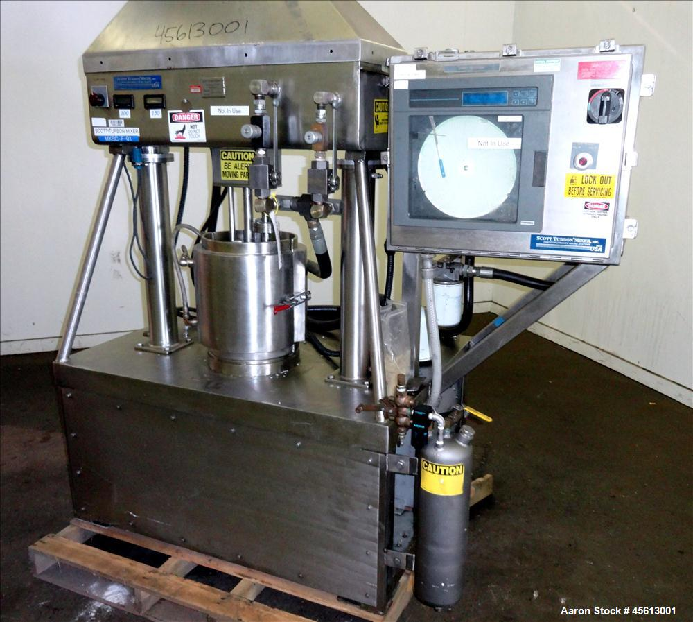 Used- Stainless Steel Scott Turbon Mixer, 6 Gallon, Triple Action