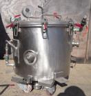 Used- Ross 10 Gallon Mixing Can, 304 Stainless Steel. 18