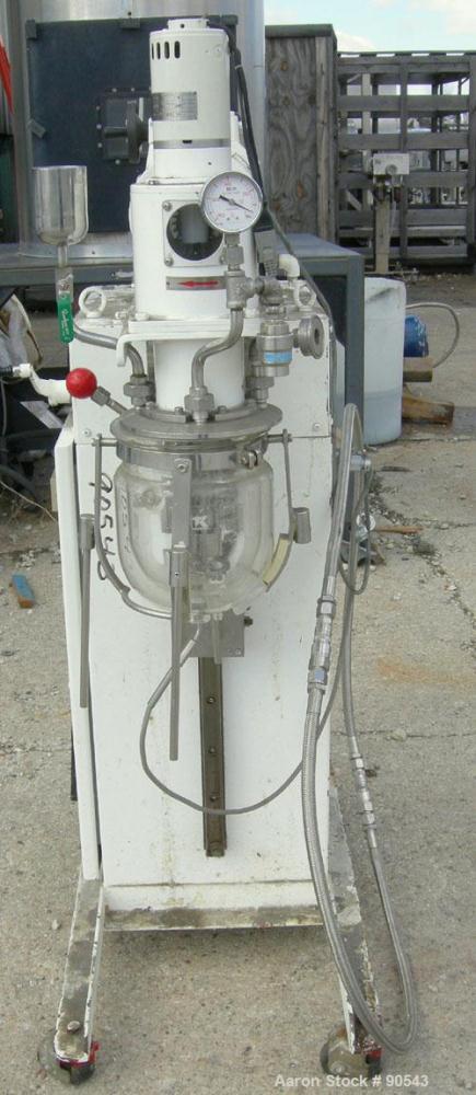 USED- T.K. AGILab Size Vacuum Mixer Emulsifier,2liter working capacity (4 total),model 2M-2