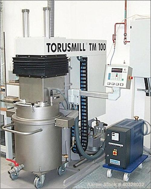 Used-Torusmill Planetary Mixer, type TM-CC-500. Material of construction is stainless steel on product contact parts. Capaci...