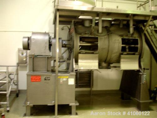 Used- Littleford Mixer, Model FKM2000D, stainless steel construction, 73.5 cubic feet total capacity, 43 cubic feet working ...
