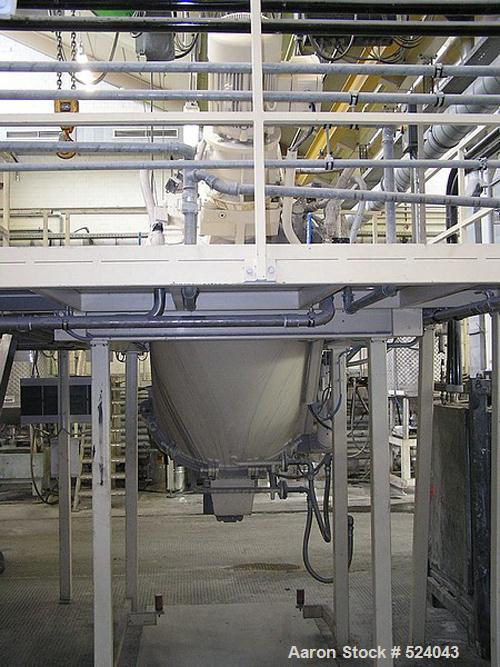 USED: AMK mixer, type VI S 600/III. Total capacity 21.2 cubic feet (600 liters), carbon steel jacketed bowl, pressure 1.5 ba...