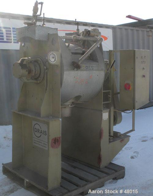 Used- Stainless Steel Draiswerke Turbulent Mixer, Model T 160 FM II