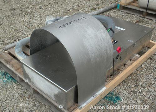 Used- American Process Cylinrical Plow Mixer, Model CPB-135, 135 Cubic Feet Working Capacity (220 total), 304 Stainless Stee...