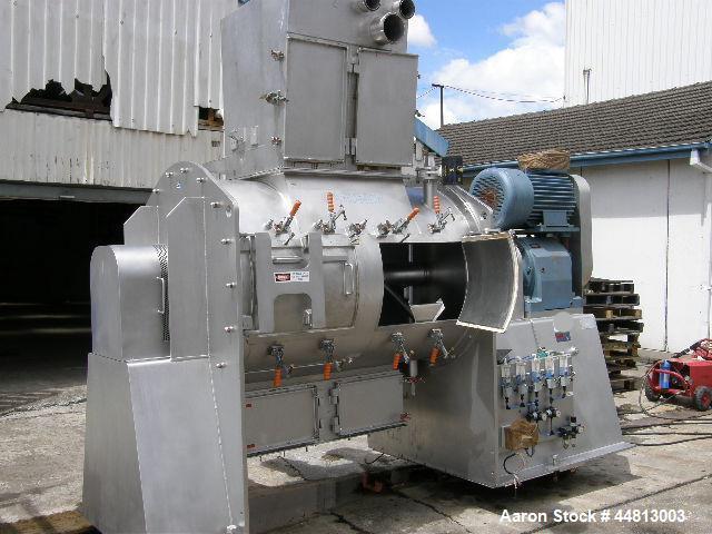 Used-Gardner High Speed Plough Shear Mixer, Model PE3000.  1400 mm Diameter x 2100mm long.  2400 Liter capacity, 88 rpm, (4)...
