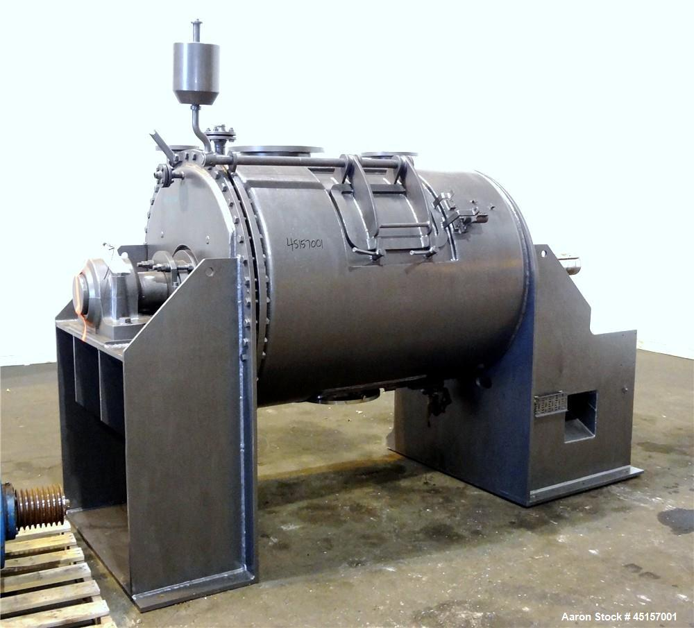Used- Stainless Steel Haagen & Rinau Paddle Mixer Dryer, Type HSM 1200 KV