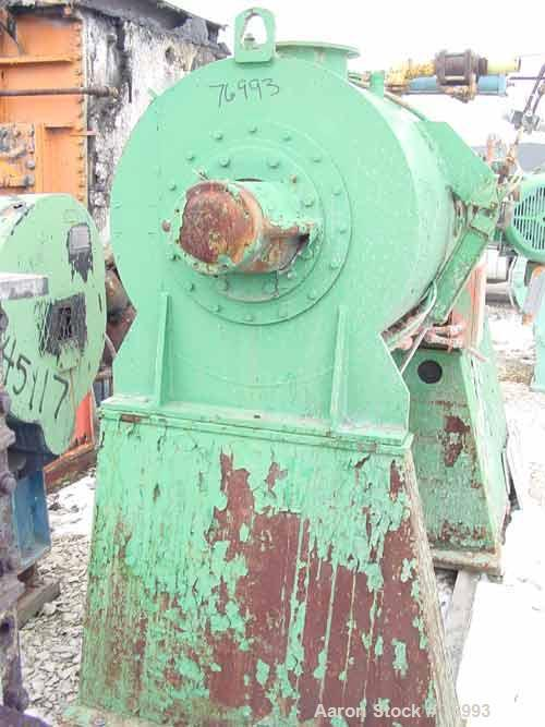 USED: J H Day turbulent mixer, size 25, carbon steel, chrome plated. 22.3 cubic foot total capacity. Carbon steel jacketed c...