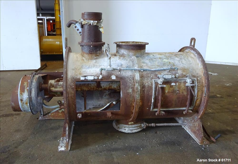 Used- Carbon Steel Littleford Plow Mixer, Model FKM-1200-E
