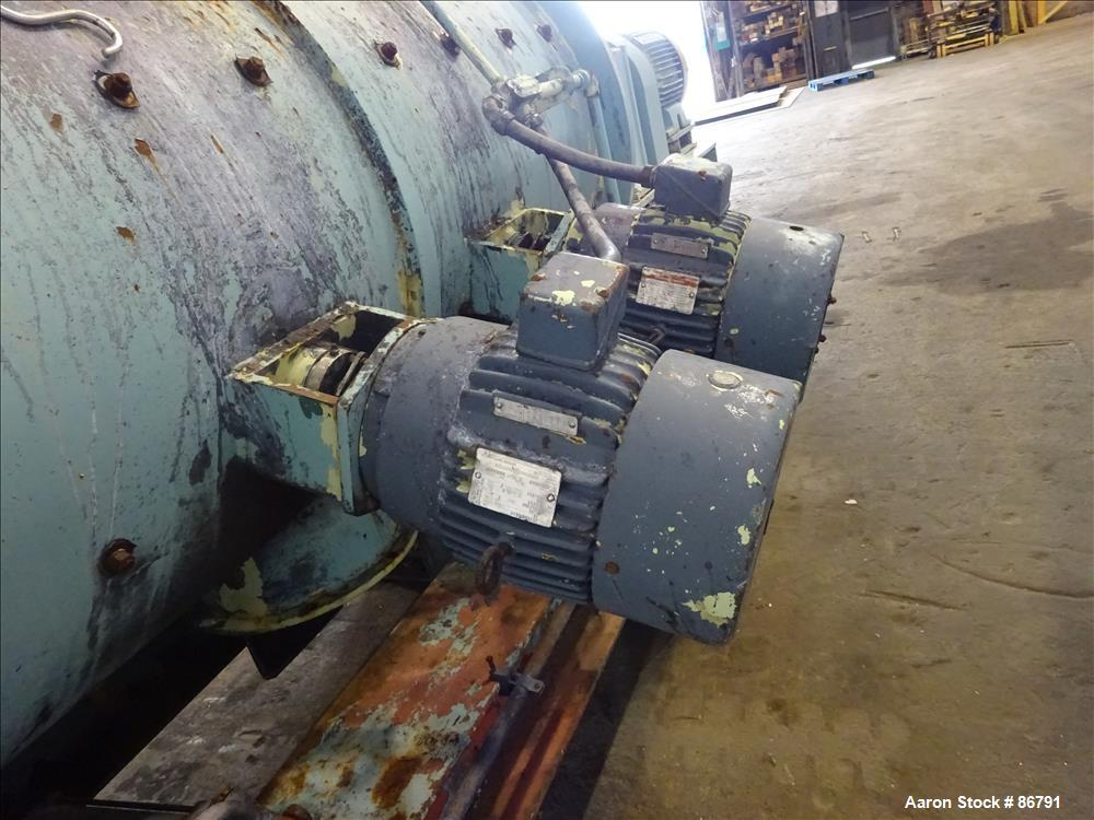 Used- Littleford Plow Mixer, Model FKM-1200-E, Carbon Steel. 26.1 Cubic feet wor