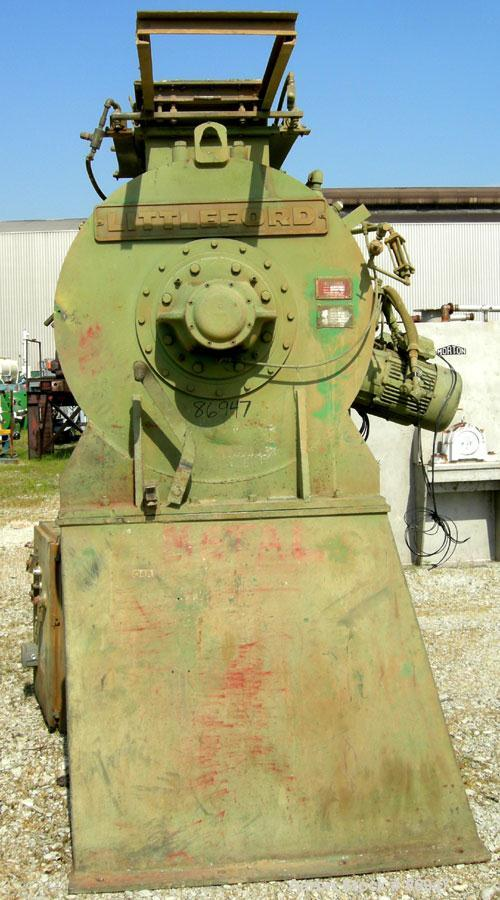 Used: Carbon Steel Littleford Plow Mixer, Model FKM-1200-E