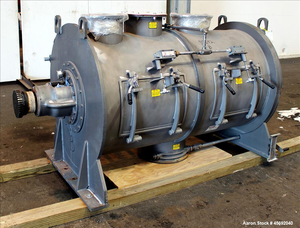 Used- Littleford Plow Mixer, Model FKM-1200, 1200 Liters (317 Gallon), 42 Cubic Feet, Batch Type, Stainless Steel. Non-jacke...