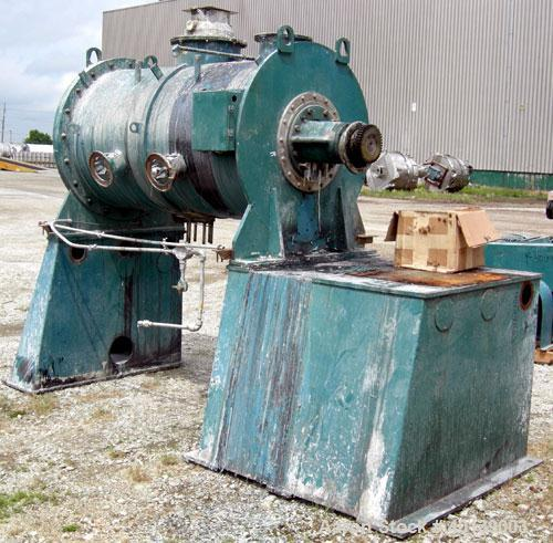 Used- Littleford/Lodige Plow Mixer, model FKM-1200E, batch type. 26.1 cubic feet working capacity, 43.4 total, 304 stainless...