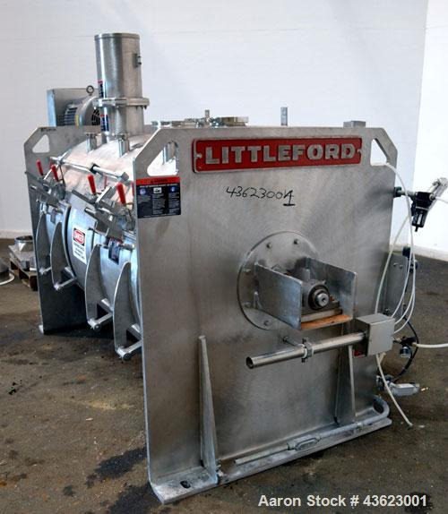Used- Littleford Batch Type Plow Mixer, Model FKM2000E, 321 Stainless Steel. 43 Cubic feet working capacity (73.5  total). N...