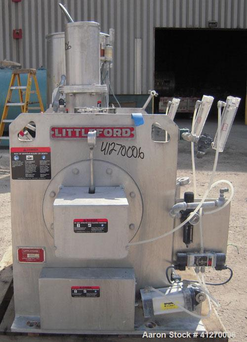 Used- Littleford Day Batch Type Plow Mixer, model FKM-300-D, 6 cubic feet working capacity (10 total). 304 stainless steel n...