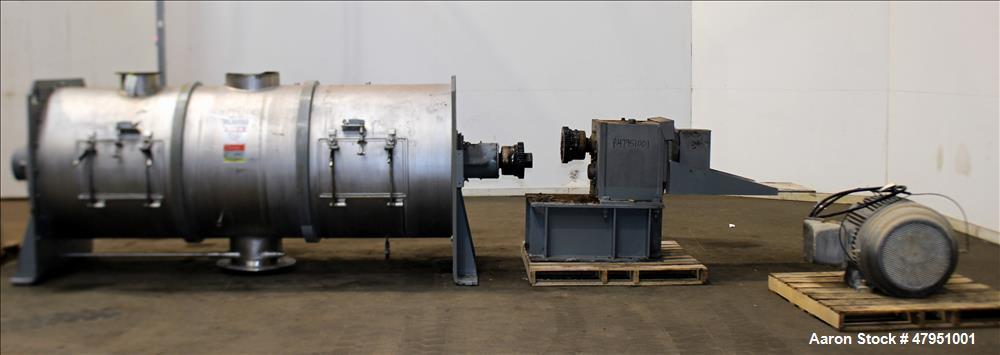 Used- Littleford 3000-Liter Horizontal Cylindrical Batch Mixer, Model FKM-3000-D