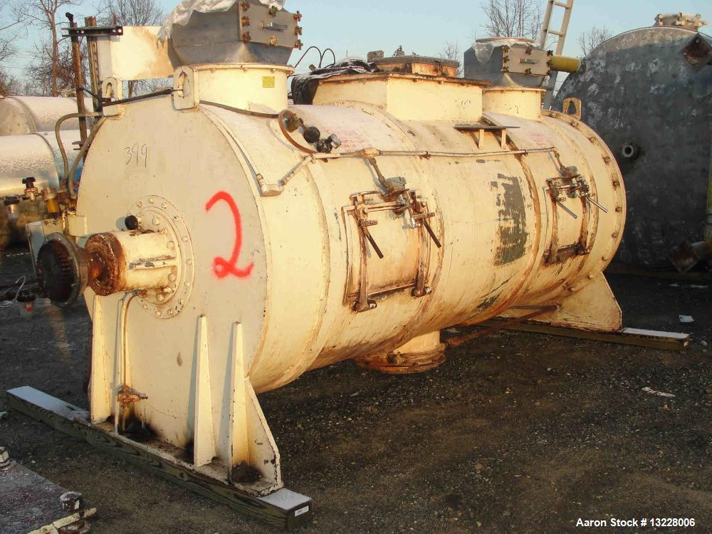 "Used-Littleford Mixer, Model FKM 5000 D.  Solid stainless steel shell, shell measures approximately 54"" diameter x 136"" long..."