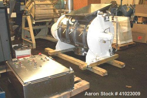 Used-Littleford Mixer, Model FKM-600.  Sanitary stainless steel, 22 cubic feet / 159 gallons total capacity, 30 hp main moto...