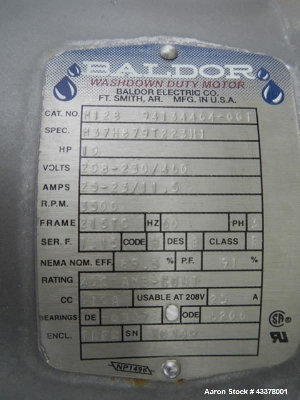 Used- Stainless Steel Littleford Mixer, model FKM600D