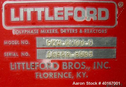 Used- Littleford Plow Mixer, Model FKM-8000-D