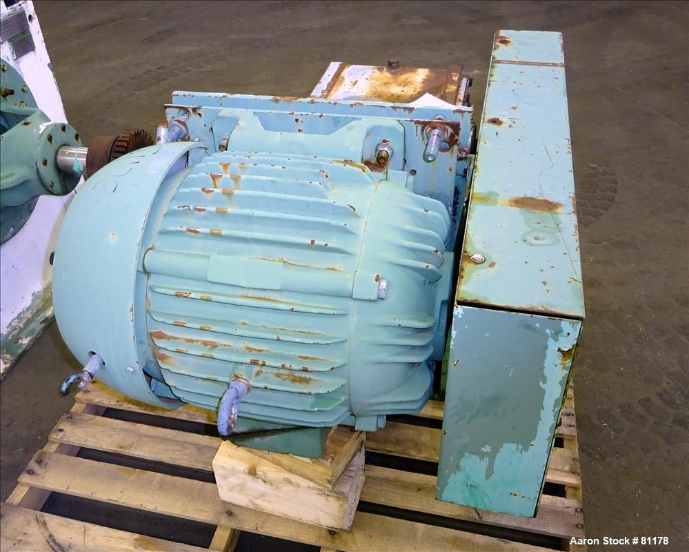 Used: Stainless Steel Littleford plow mixer, model 1200D, batch type