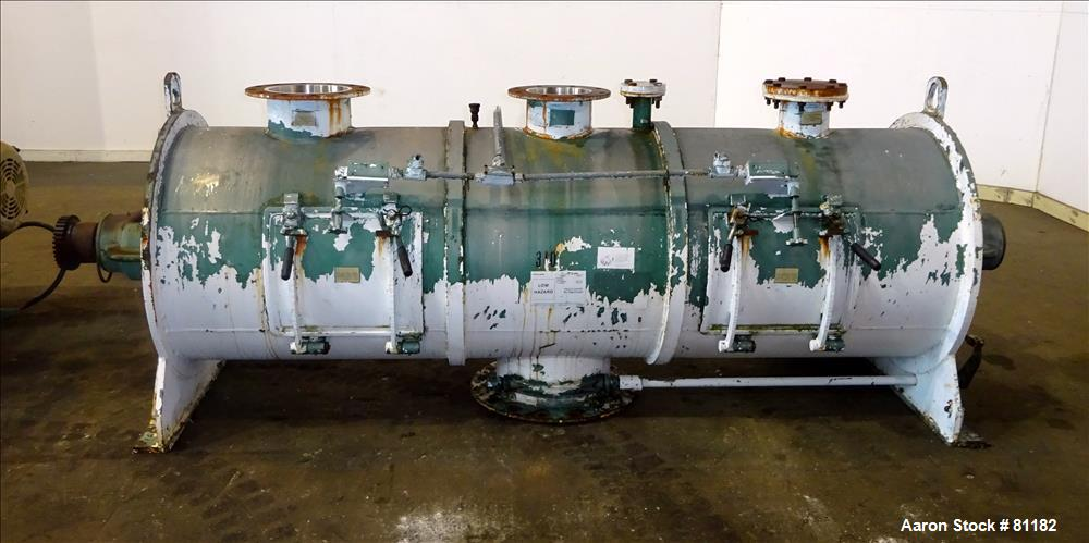 Used: Stainless Steel Littleford plow mixer, model FKM1200D, batch type. 26.1 cu