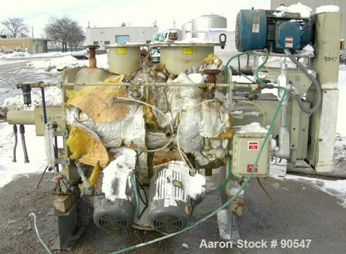 "Used- Littleford Plow Mixer, Model FKM600D, 304 stainless steel. 11 cubic feet working capacity, 21.2 total. 30"" diameter x ..."