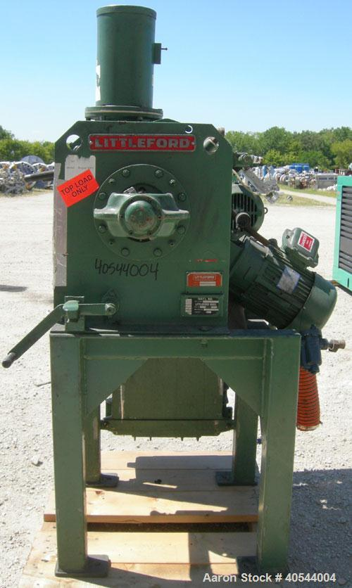 Used- Littleford Batch Type Plow Mixer, Model FM-130-D, 304 Stainless Steel. 3 Cubic feet working capacity, 4.6 total. Carbo...