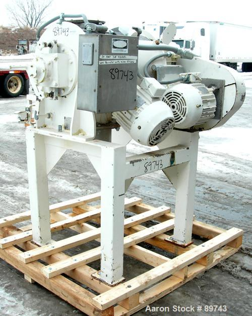 Used- Littleford Batch Type Plow Mixer, Model FM-130-D, 304 stainless steel. 3 cubic feet working capacity,4.6 total. Carbon...