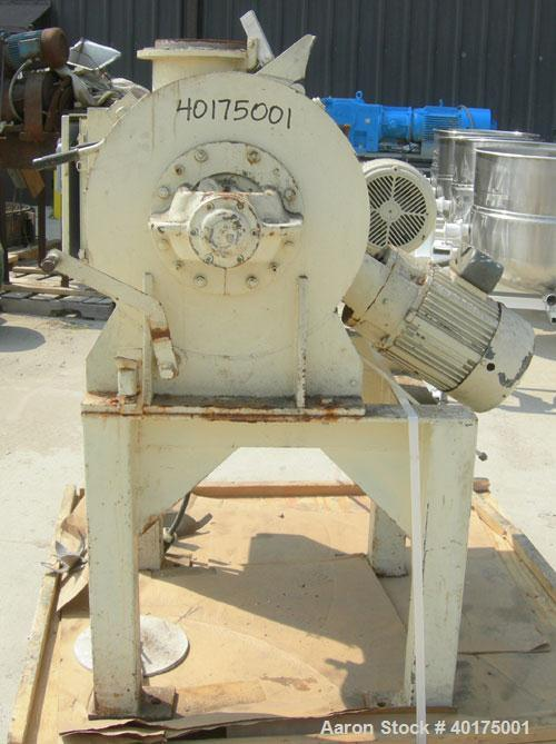 Used- Littleford Plow mixer, model FM-130-D, batch type. 3 cubic foot working capacity, 4.6 total, 304 stainless steel. Carb...