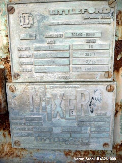 Used- Littleford Plow Mixer, Model FM100