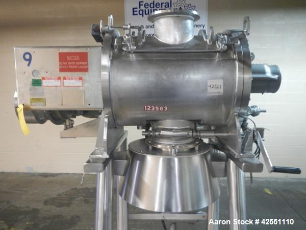 Used- Littleford plow mixer, model FM 130-D, all stainless steel construction including chamber, jacket, plows, ends and bas...