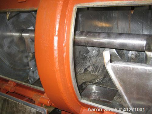 Used-Littleford/Lodige plow type FMK 600 mixer. 25 hp drive, 2.5 hp choppers, jacket stainless steel, 150 lb pressure rating...