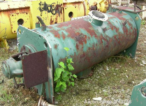 """Used- Littleford Batch Type Mixer/Cooler, Model K-300, 6 Cubic Feet, Stainless Steel. 19"""" Diameter x 58"""" long mixing chamber..."""