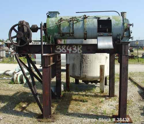 Used- Littleford Model KM600D Plow Mixer. Continuous. 304 Stainless construction. 21.2 cubic foot total volume, 11.0 cubic f...