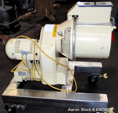 Used- Littleford/Lodige Lab Plow Mixer, model MB20R, 20 liter (0.7 cubic feet) capacity, stainless steel. Jacketed chamber, ...