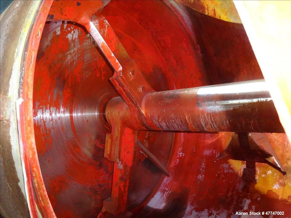 Used- Littleford Vacuum Dryer Plow Mixer, Model VT-4200-D, Total capacity 148.3